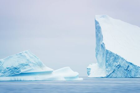 Big icebergs in the Ilulissat icefjord, western Greenland Banco de Imagens