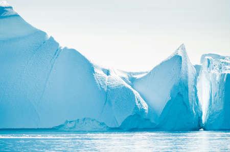 Big icebergs in Ilulissat icefjord, western Greenland. Atlantic ocean