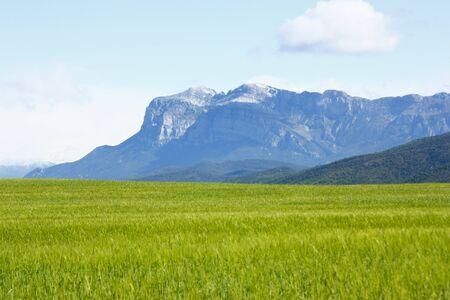 Ordinal:  Berg in sonniger Tag, in der N�he von A�nsa in den Pyren�en, Wolken, blauer Himmel Lizenzfreie Bilder