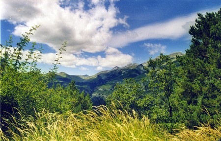 Lost mountain, pyrenees, mountains of ordesa in cloudy day, valley, pyrenees, near ainsa, mountain , cloud, blue sky, rocks photo