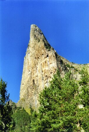 mountain in pyrenees photo