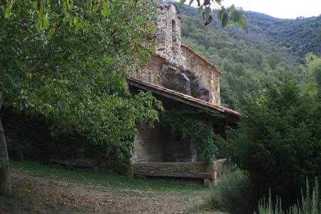 litle: Litle church in Potes, Picos de Europa, Cantabria Stock Photo