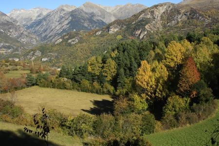 pyrenees: Mountains, Tramacastilla tena. Pyrenees Stock Photo