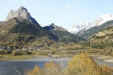 pyrenees: Mountains, Tenas Valley. Pyrenees Stock Photo