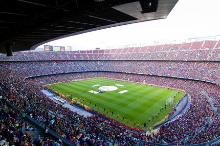unidentified: BARCELONA, ESPA�A - 13 de mayo de 2011: no identificados del FC Barcelona celebran la victoria de campeonato de la liga espa�ola en el estadio Camp Nou.