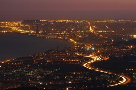 Barcelona at night. Stock Photo