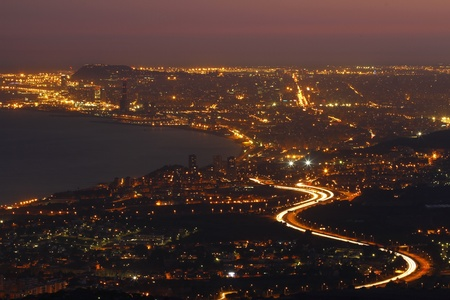 Barcelona at night. photo