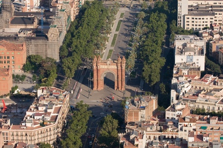 triumphal: Triumphal Arch of Barcelona. Stock Photo
