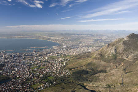 Aerial view of Cape Town from Table Mountain. photo