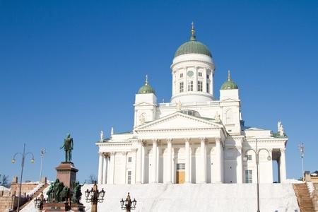 lutheran: Lutheran cathedral, Helsinki, Finland. Stock Photo