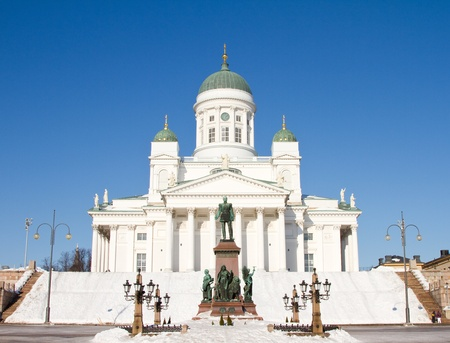 lutheran: Lutheran cathedral, Helsinki, Finland. Stock Photo