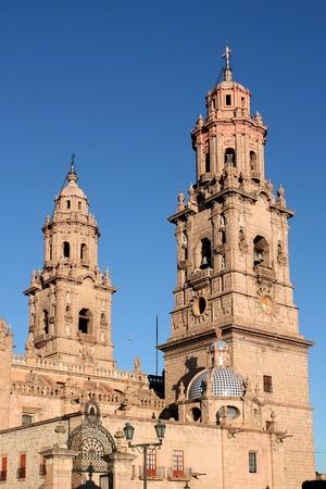 Cathedral of Morelia, Michoacan, Mexico.