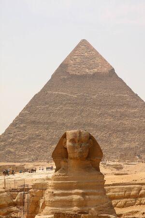Sphinx and Pyramids of Giza, Egypt. Stock Photo - 12150011