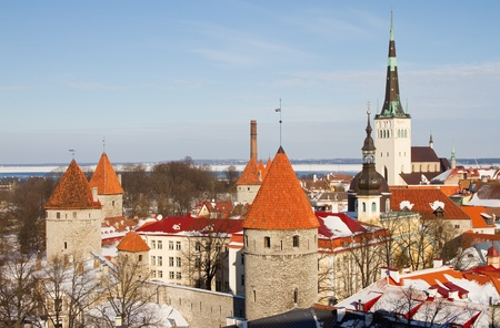 View of Tallinn, Estonia. photo