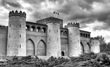 zaragoza: Aljaferia castle, Zaragoza. Stock Photo