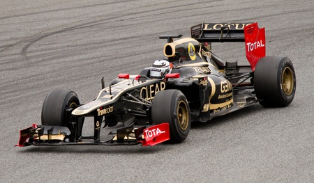 f1: BARCELONA - MARCH 4: Kimi Raikkonen of Lotus Renault F1 team racing during Formula One Teams Test Days at Catalunya circuit on March 4, 2012 in Barcelona, Spain. Editorial