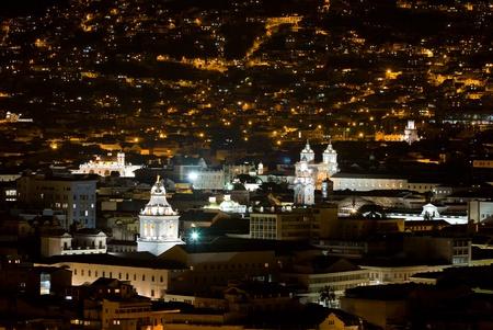 quito: Quito at night, Ecuador