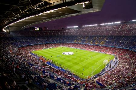 バルセロナ - 9 月 13 日: 前にチャンピオンズ リーグの間で一致 FC バルセロナ、AC ミラン、最終的なスコア 2-2、2011 年 9 月 13 日にスペインのバルセロ