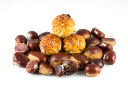 Chestnuts and panellets photo