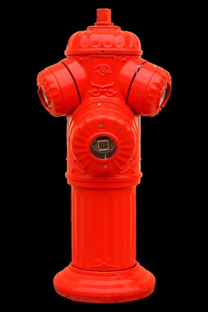 junction pipe: Red fire hydrant