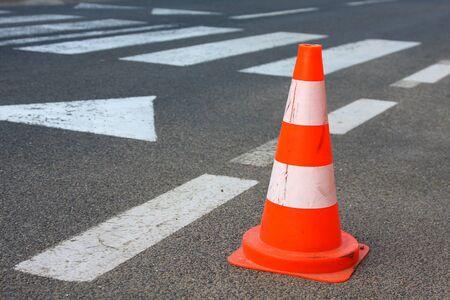 traffic cones: Traffic cone