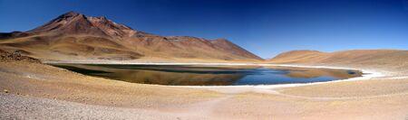 high plateau: Miniques lagoon, Chile Stock Photo