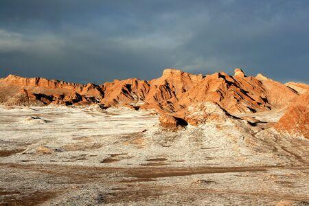 Moon Valley in Atacama, Chile Stock Photo