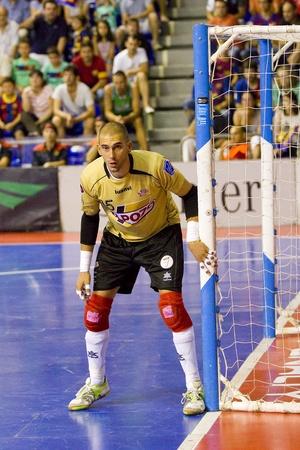 BARCELONA, SPAIN - JUNE 17: Rafa Fernandez of El Pozo in action at Spanish Futsal League final match between FC Barcelona and El Pozo Murcia, final score 4 - 1, on June 17, 2012, in Barcelona, Spain. Stock Photo - 14223935