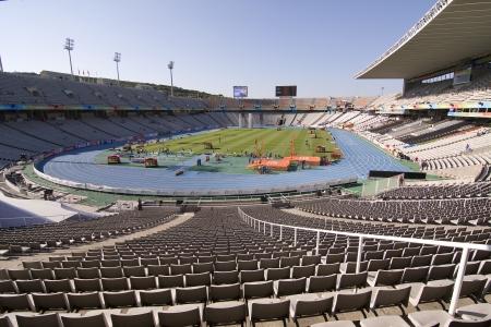 olympic stadium: BARCELONA - JULY 28: European Athletics Championships Barcelona 2010. Lluis Companys Olympic Stadium. July 28, 2010 in Barcelona, Spain