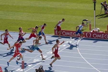 -7 月 28 日: ヨーロッパ陸上選手権バルセロナ 2010年。画像、十種競技 - 100 メートルの男性。2010 年 7 月 28 日バルセロナ、スペイン