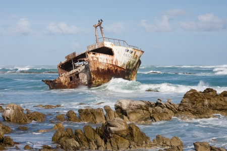 Shipwreck in Cape Town, South Africa photo