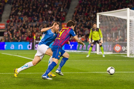 fabregas: BARCELONA - JANUARY 4: Cesc Fabregas of Barcelona in action during the Spanish Cup match between FC Barcelona and Osasuna, final score 4 - 0, on January 4, 2012 in Camp Nou stadium, Barcelona, Spain