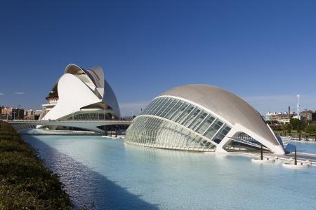 sciences: City of Arts and Sciences of Valencia, Spain, designed by Santiago Calatrava Editorial