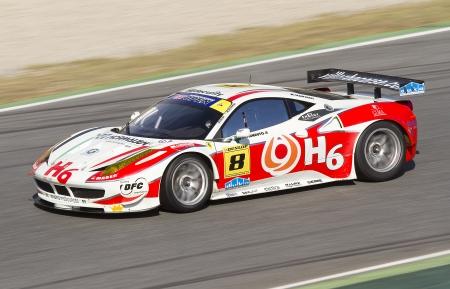 gt: Andrea Montermini correre a International GT Open con una Ferrari 458 GT Italia, il 30 ottobre 2011, nel Circuit de Catalunya, Barcelona, ??Spagna Editoriali