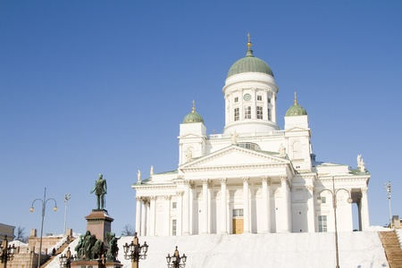 lutheran: Lutheran cathedral of Helsinki, Finland Stock Photo