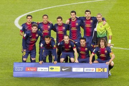 FC バルセロナとアトレティコ ・ デ ・ マドリッド、カンプ ノウ、バルセロナ、スペインの最終的なスコアに 2012 年 12 月 16 日、4-1、スペイン リーグ