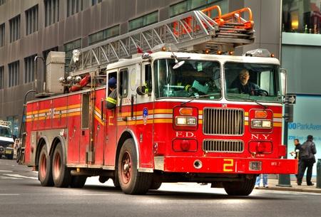 fireman: Fireman truck, New York Editorial