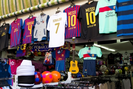 View of a shop in Lloret de Mar, a famous touristic destination in Mediterranean coast, on April 30, 2012, in Lloret, Spain