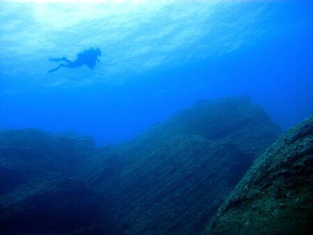 Scuba diving in El Bajon, El Hierro island, Spain