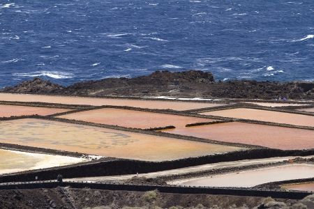 evaporation: Salt evaporation ponds in La Palma, Spain