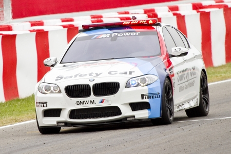 Safety car at the race of Moto2 Grand Prix of Catalunya, on June 3, 2012 in Barcelona, Spain  The winner was Andrea Iannone