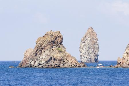 eolie: Stacks of Lipari island, Sicily, Italy Stock Photo