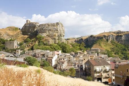 Corleone, the town of Sicilian mafia, Italy 스톡 콘텐츠