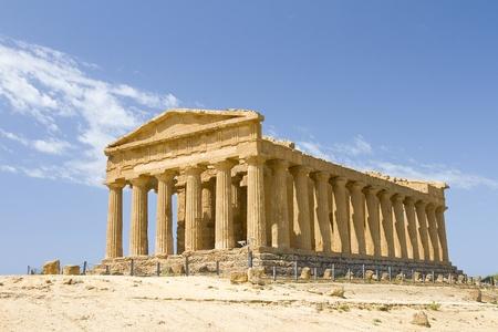 antigua grecia: Templo de la Concordia, Agrigento, Italia