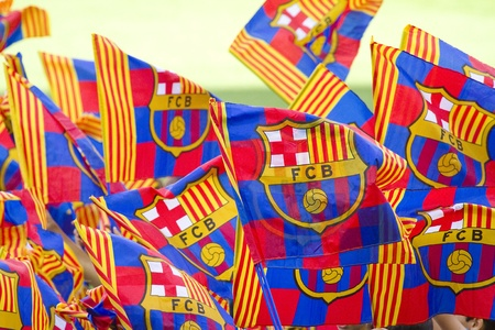 新しい FC バルセロナの選手として、2013 年 6 月 3 日にスペインのバルセロナでブラジルのサッカー選手 Neymar Da Silva サントス ジュニア公式発表時に 報道画像