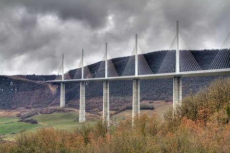 millau: Millau Viaduct, France Stock Photo
