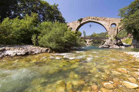 Roman Bridge of Cangas de Onis, Asturias, Spain