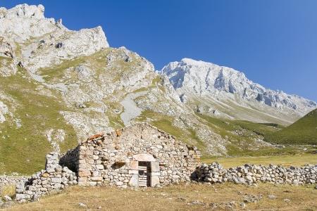 picos: Vega de Sotres, Picos de Europa mountains, Asturias, Spain Stock Photo