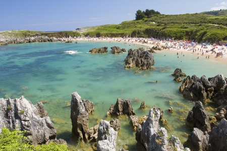 Playa de Toro in Llanes, Spanje Stockfoto
