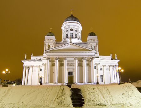 lutheran: Lutheran cathedral of Helsinki Stock Photo